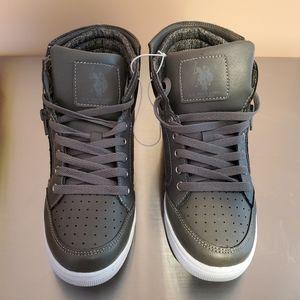 U.S. Polo Assn. Gray high top sneakers-NWOT